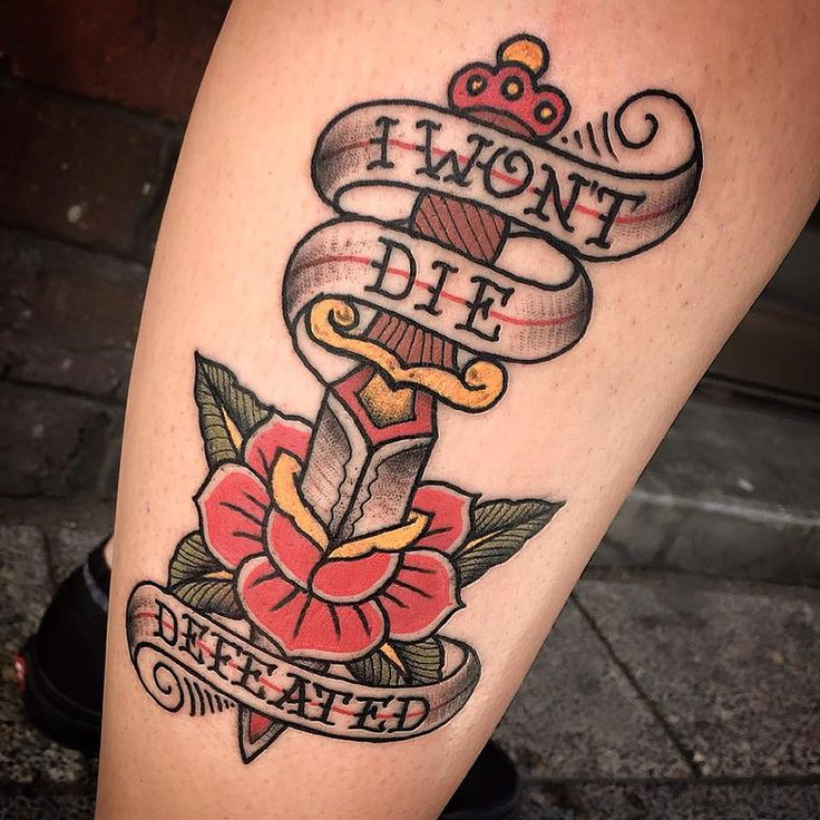 dagger and roses tattoo - Google Search