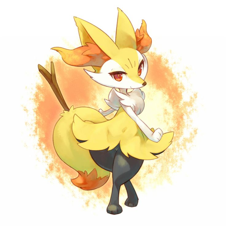 Blush Braixen Crossed Legs Fox Fur Mizuki Kotora No Humans Pokemon Game Xy Sitting Stick