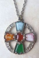 Vintage Large Celtic Cross Pendant And Necklace
