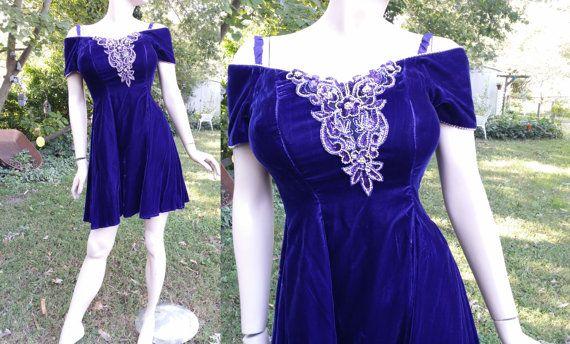 Off the Shoulder 80s Prom Dress  Vintage Dress 80s Dress Bridesmaid Dress by Betsy & Adam #gottagovintage1