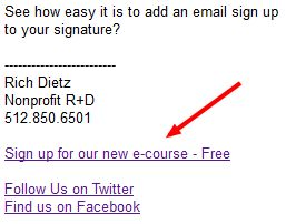 how to add linkedin link to email signature gmail