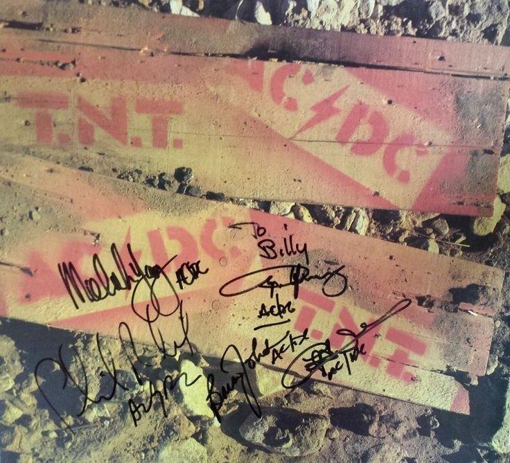 AC/DC AUTOGRAPHED AUSTRALIAN TNT ALBUM ALL 5 MEMBERS