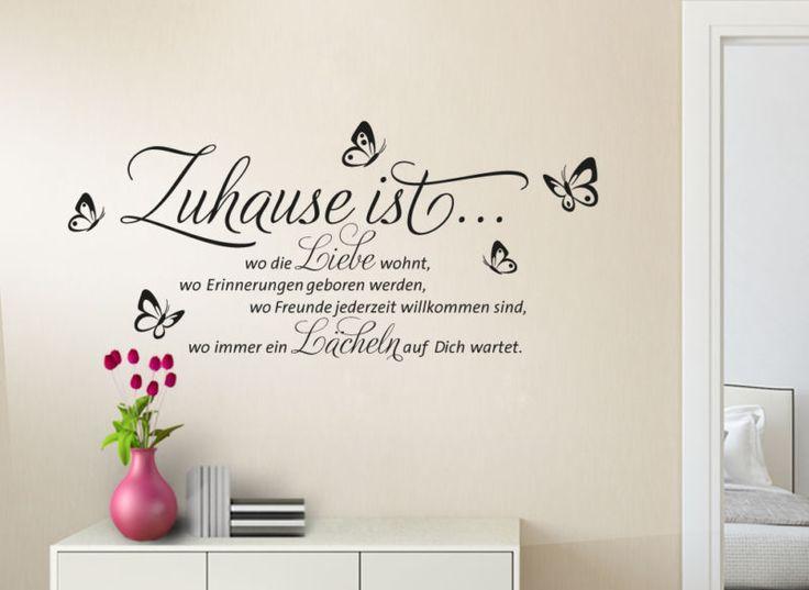 13 besten Wandtattoo Zitate Bilder auf Pinterest Wandtattoo - wandtattoo wohnzimmer grun