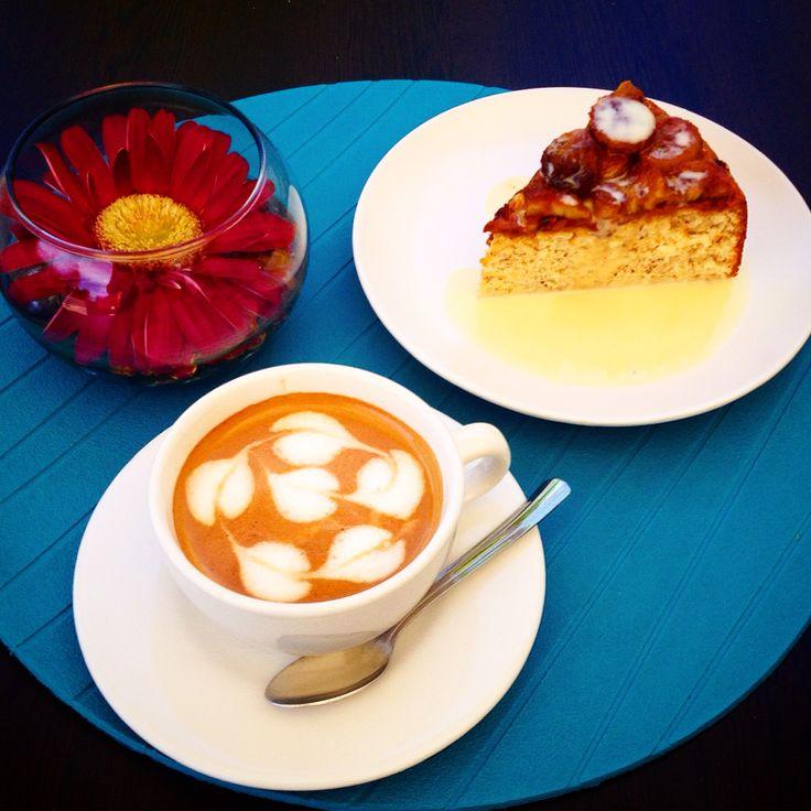 Hazelnut Genoise! And Coffee. #coffee #genoise #hazelnut