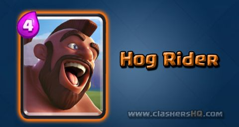 Find out all about the Clash Royale Hog Rider Card. How to get Hog Rider & attack/counter Hog Rider effectively.