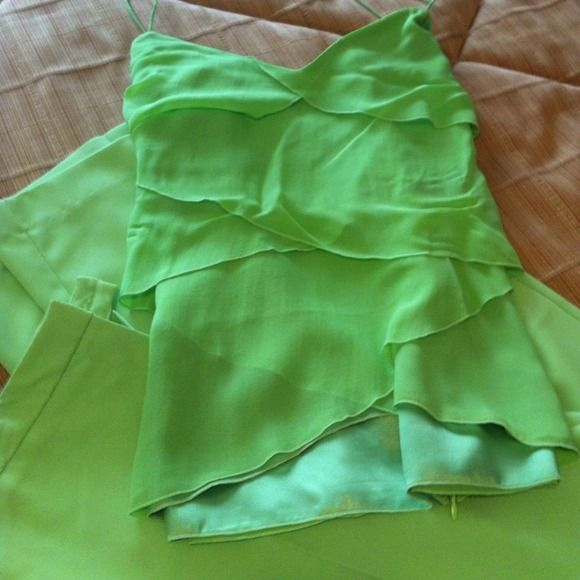 Beautiful Lime Green Pants & Top Make an Offer! Nice Lime Green Two Piece Set (Pants and Top) Pants