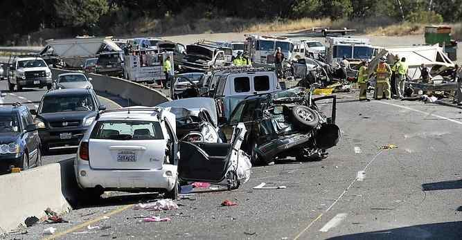 A crash on north Highway 17 near Bear Creek Road in took the life of Daniel McGuire of Santa Cruz and injured seven others.