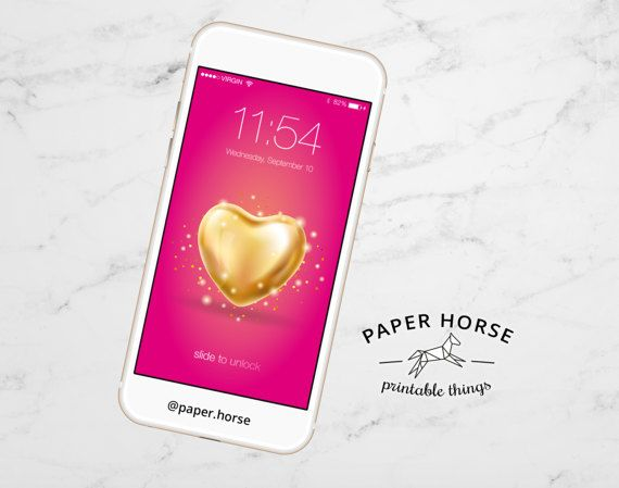 Gold Love Background, Heart iPhone Wallpaper, Gold Heart, Pink Background, Phone Wallpaper, Love design, iPhone screen, iphone,5,6,6+,7,7+
