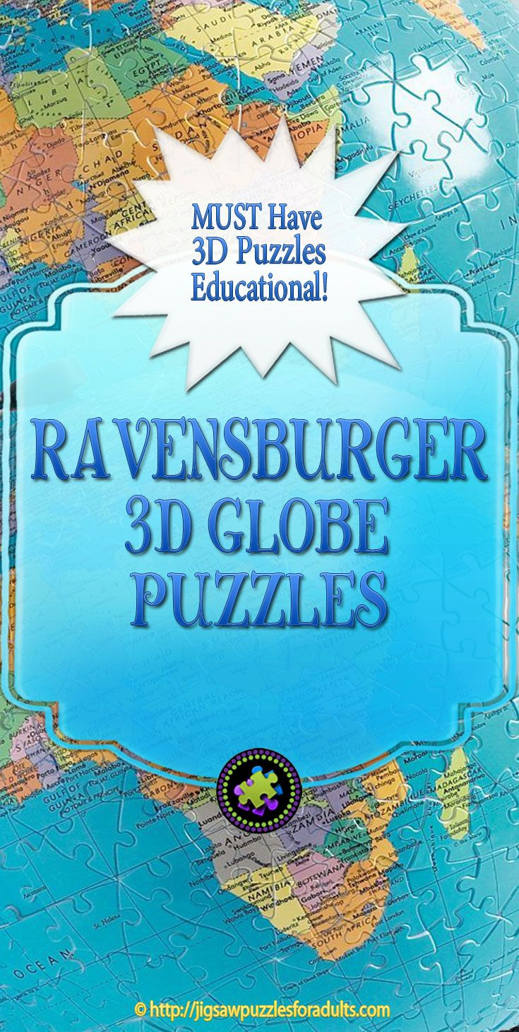 Ravensburger 3D Globe Puzzle is an absolute MUST for anyone who loves puzzling and wants to learn about our amazing Earth! Perfect for the whole family!