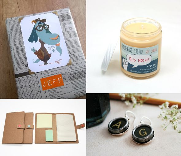 Academics   Book lovers   Poets Terrapin and Toad: Etsy gift guide and wrapping ideas