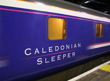 The Caledonian Sleeper from London to Scotland...definitely the way to travel between these two places!