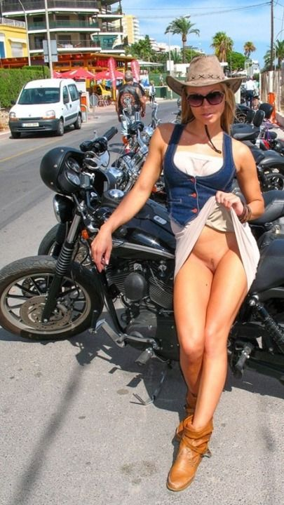 "jockabolic: ""Biker babe "" wetsteve3 So Far Over 52,000 Real Biker Babe, Biker Event, Motorcycle and incredible photos of Professional models posing with bikes of all kinds. If it has two or three..."