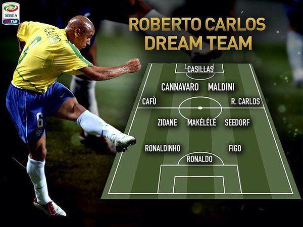 90s Football On Twitter In 2020 Roberto Carlos Dream Team Seedorf