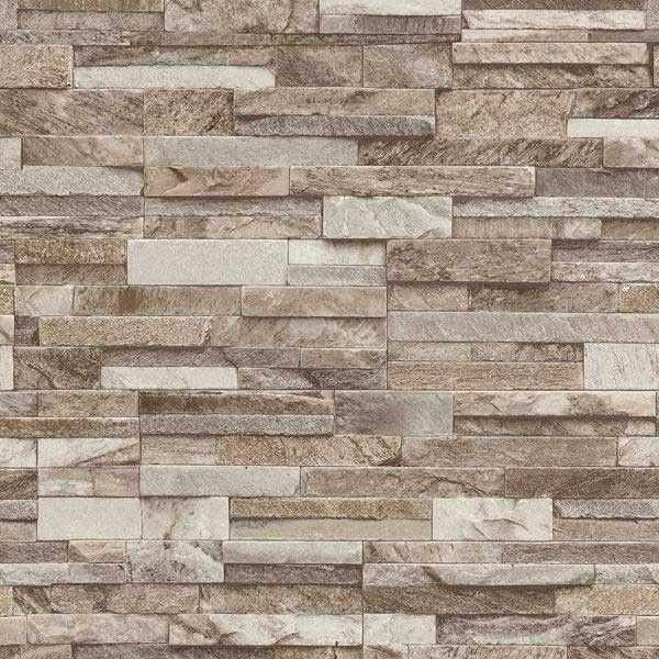 Papel pintado imitación pared de piedra PDW94210630