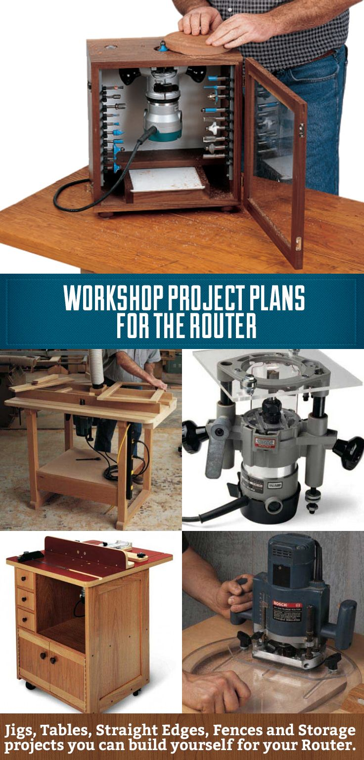 Workshop Project Plans for the Router! From DIY router tables to DIY router…