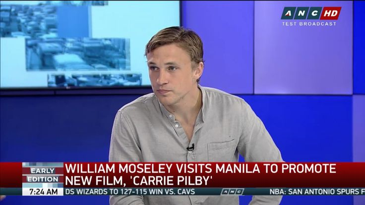 William Moseley in the Philippines promoting his films on a local news station ABS-CBN