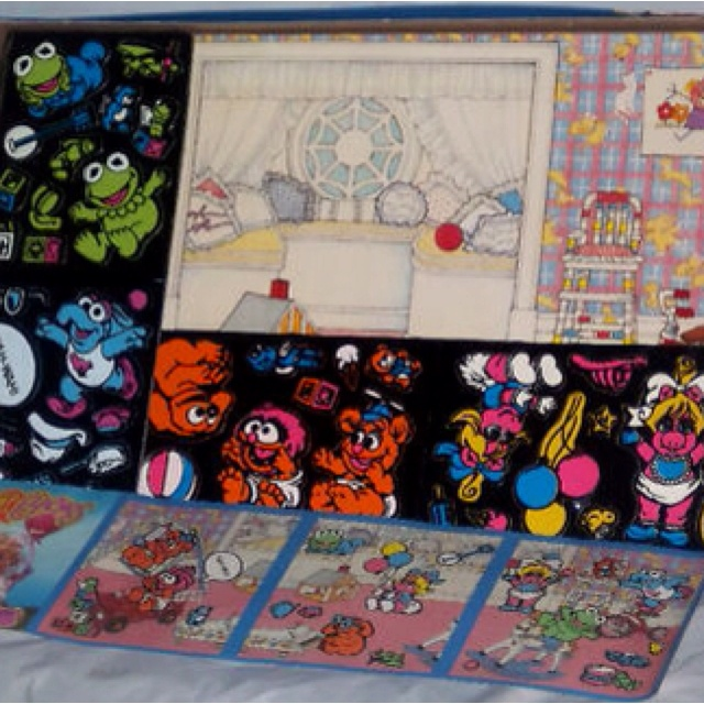 Colorforms...I never would have remembered what these were called, but I loved them. And I had this exact one!