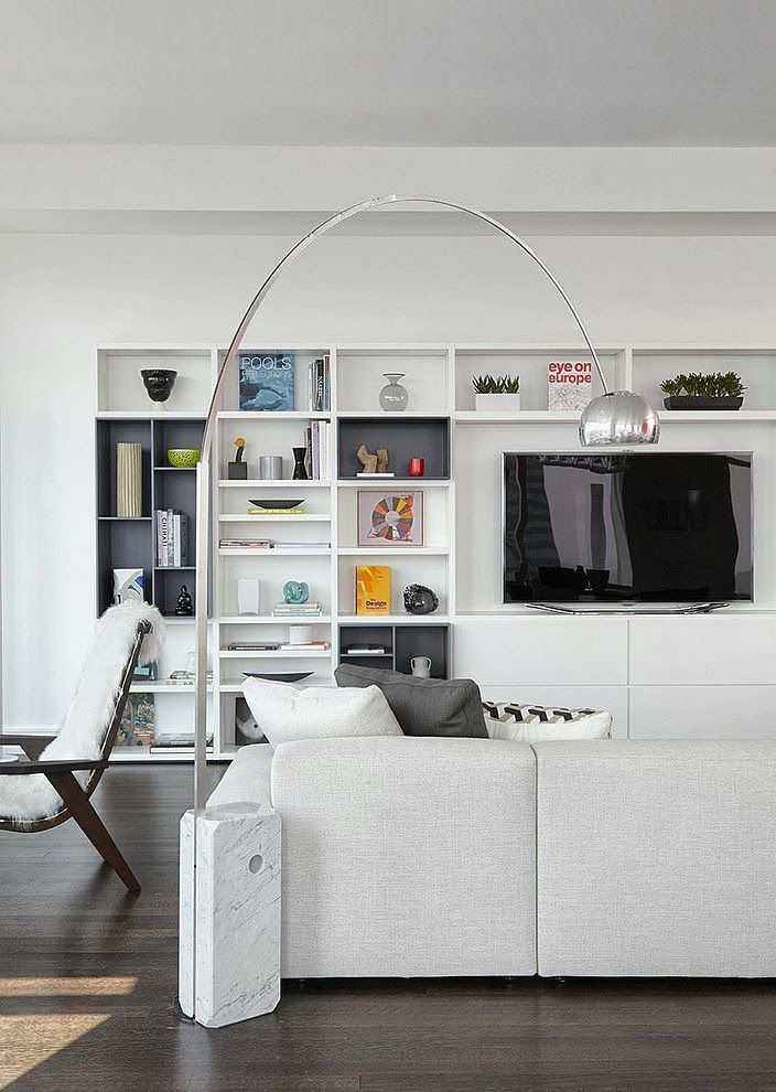 Modern White Living Room Furniture #19: World Of #Architecture: #Modern #Apartment #Design By Tara Benet, New. Newyork LivingroomBenet ...