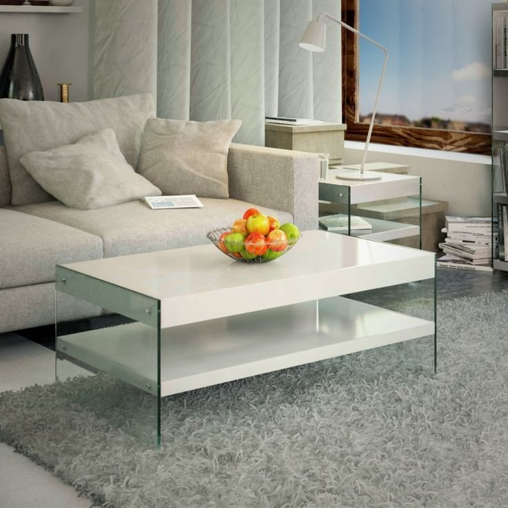 Emporium Home Waverley White Gloss Coffee Table. A Modern And Trendy Coffee  Table In Crisp