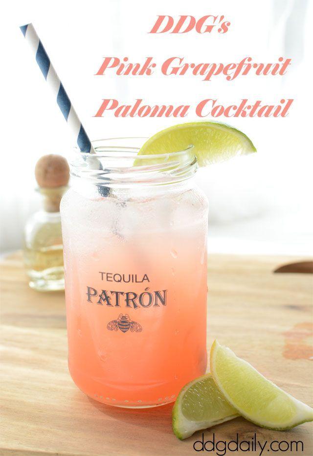 Pink Grapefruit Paloma Cocktail recipe
