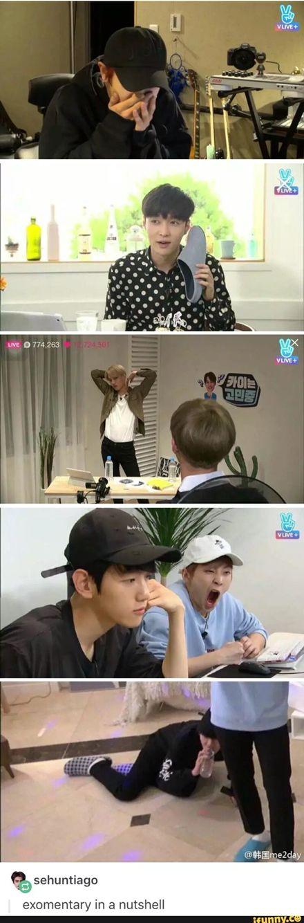 Hahaha I watched these...XD I love Xiumin&Chen , Xiumin&Baekhyun and Suho live stream...