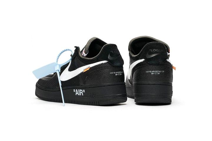 A Clean Look At The Off White X Nike Air Force 1 Black White Nikes Nike Air Nike Air Force