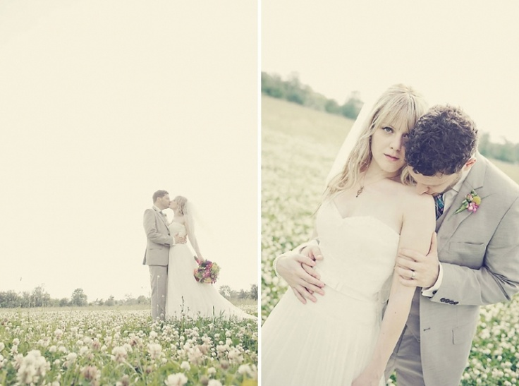Ahhhh, a field of clovers on your wedding day...