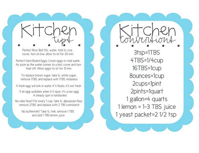 Handy conversions; 3tsp=1Tbsp, 4Tbsp=1/4cup: Kitchens, Kitchen Tips, Conversion Chart, Free Download, Conversions Free, Household Tips, Cooking Tips, Free Printables