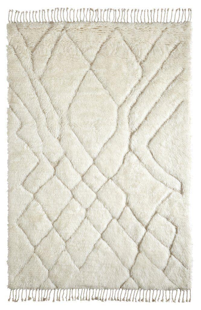 Ashanti Tribal Pattern Berber Wool Shag Rug In 2020 Wool Shag Rug Tribal Pattern Shag Rug