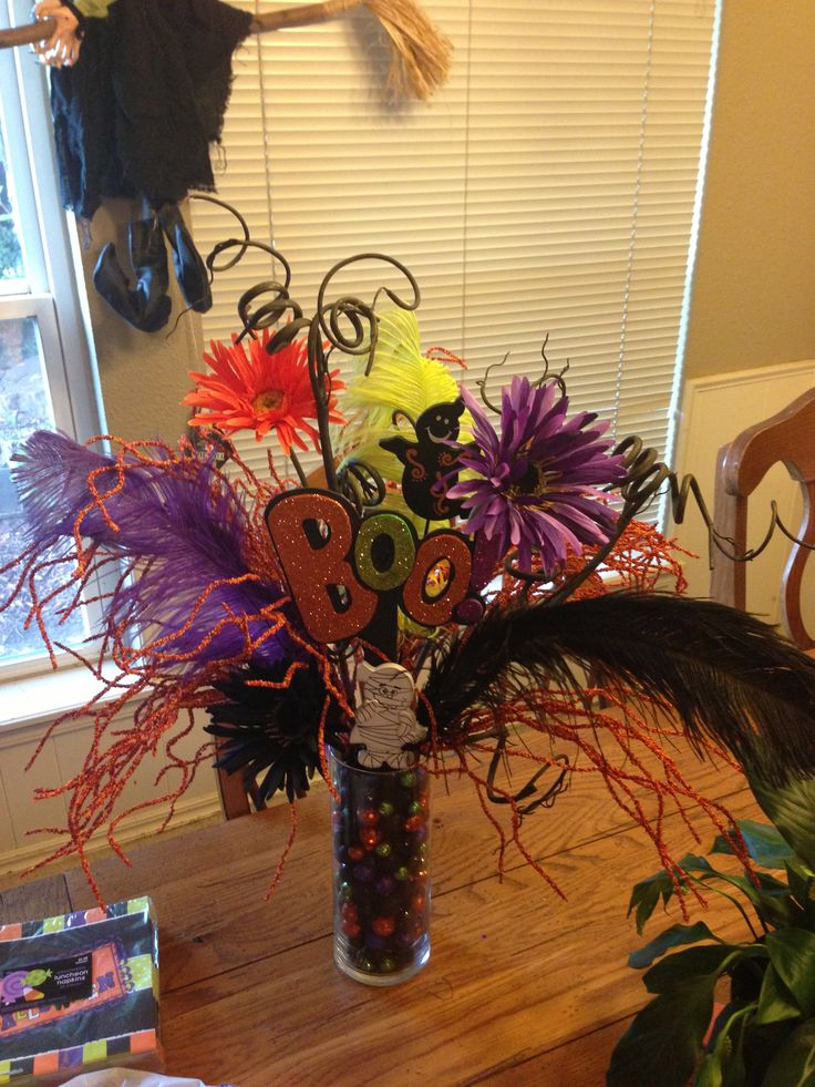 Best halloween floral arrangements and wreaths images