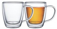 Conjunto de xícaras para chá e capuccino 2 pç.