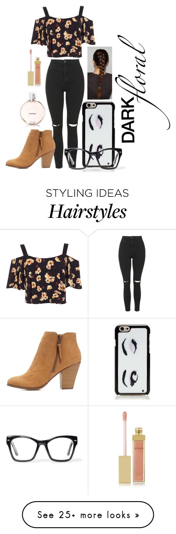 """""""Dark Floral"""" by fashiongirlxcx on Polyvore featuring Miss Selfridge, Topshop, Charlotte Russe, Kate Spade, Spitfire, AERIN and darkfloral"""