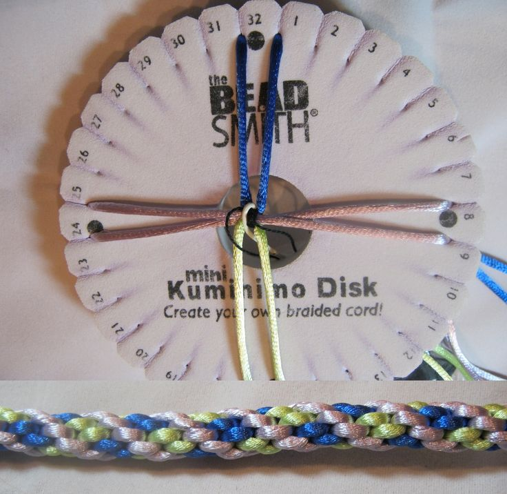 Kumihimo - Let's start with an 8 wire bracelet