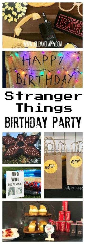 Stranger Things Birthday Party - Jolly & Happy