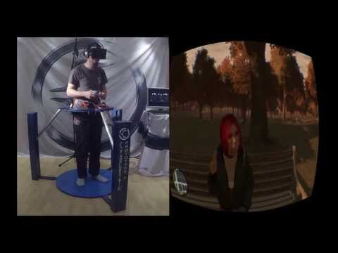 GTA 4 in VR - Cyberith Virtualizer + Oculus Rift + Wii Mote = Mindblowing Experience - YouTube