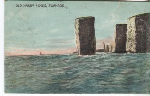 E Stevens, Poole, Postcard, Old Harry Rocks, Swanage