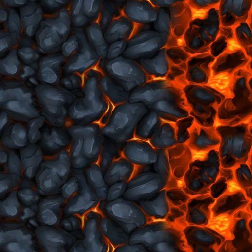 Cooling Magma lava underdark tile