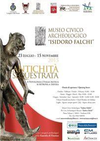 Mostra Evento del Museo Civico Archeologico Isidoro Falchi dedicata al banchetto nell'antichità etrusca e greca. Aperta fino al 10 gennaio 2015