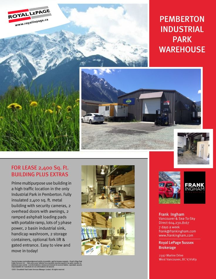 FOR LEASE PEMBERTON INDUSTRIAL PARK