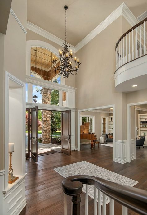 How Big Should Foyer Chandelier Be : Best ideas about two story windows on pinterest