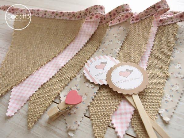 Banderola de tela handmade