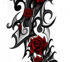 tribal rose tatoos dream tattoos pinterest black