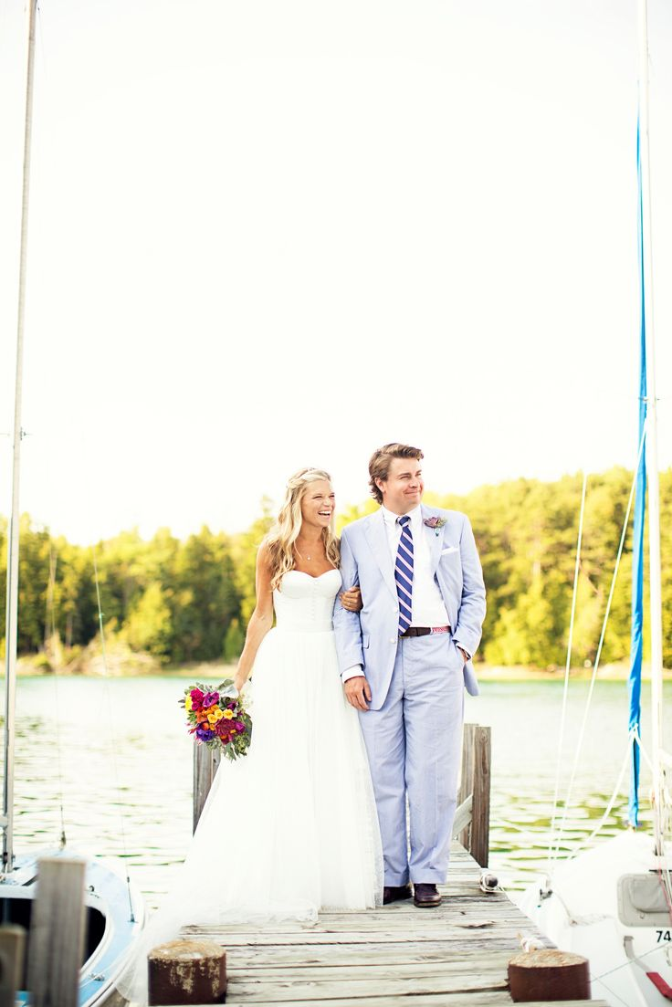 Nautical Belvedere Yacht Club Wedding  Read more - http://www.stylemepretty.com/michigan-weddings/2014/03/12/nautical-belvedere-yacht-club-wedding/
