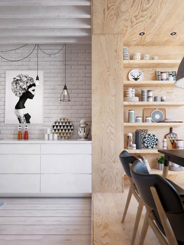 1000+ ideas about Briques Blanches on Pinterest  Papier peint blanc, Manteau -> Etager Bois Brique