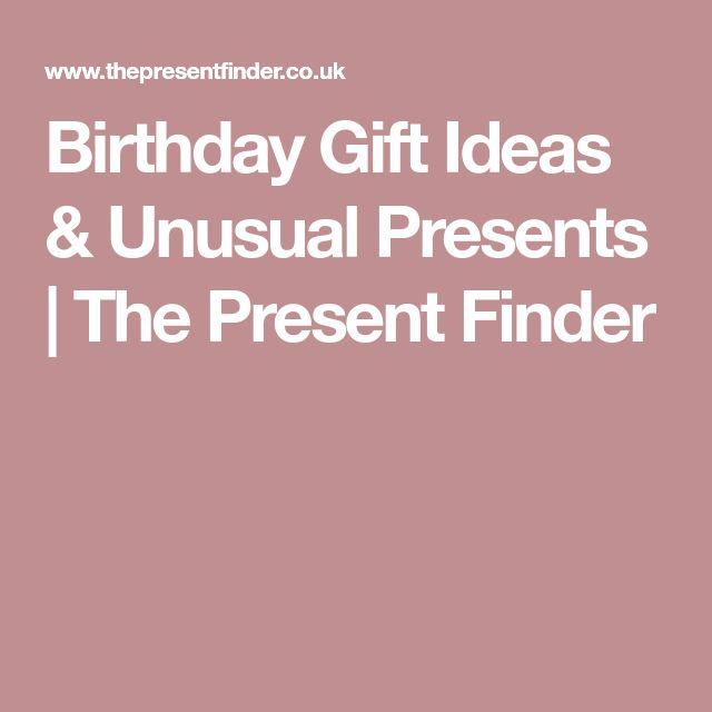 Birthday Gift Ideas & Unusual Presents | The Present Finder