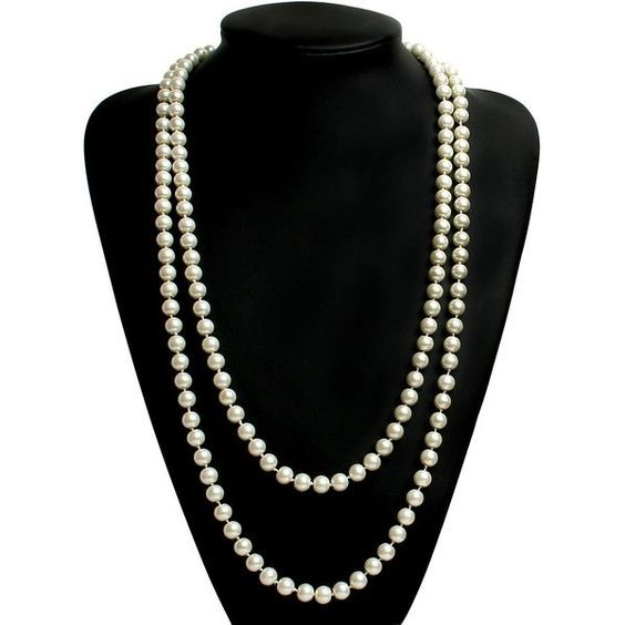 """BABEYOND ART DECO Fashion Faux Pearls Flapper Beads Cluster Long Pearl Necklace 55"""""""
