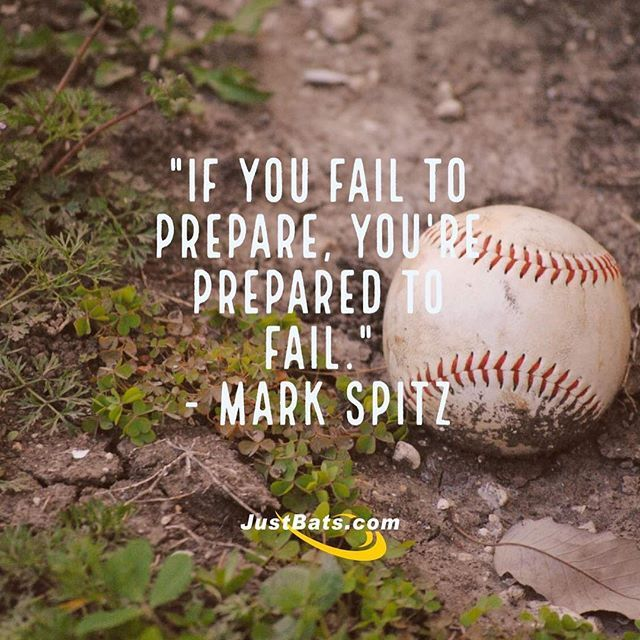 """If you fail to prepare, you're prepared to fail."" Mark Spitz | JustBats.com"