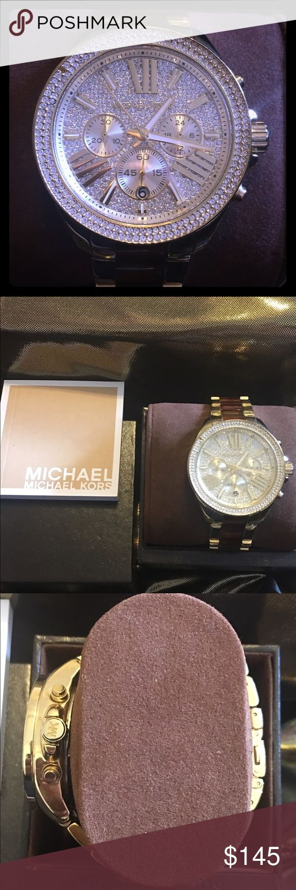 Michael Kors Tortoise and gold tone Amber Watch ⌚️ NEW WOMENS MICHAEL KORS (MK6294) GOLD TONE AMBER TORTOISE WATCH new comes w box and warranty book retail 395.00 Michael Kors Accessories