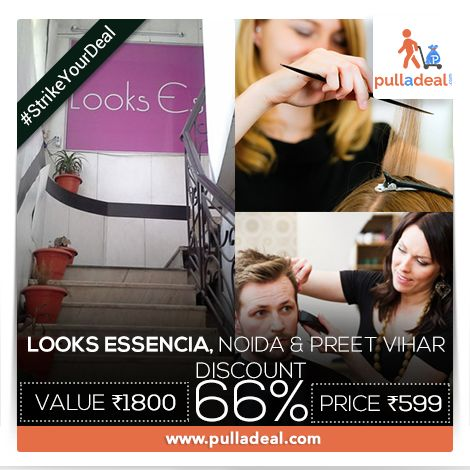 #StrikeYourDeal at www.pulladeal.com #WeightLoss sessions, #FullBody steam, and a lot more, all available for you at #LooksEssencia #Noida & #PreetVihar with great professionals & great #Deals. Save Rs 1201/- on deal of Rs 1800/- http://goo.gl/UTVVhy