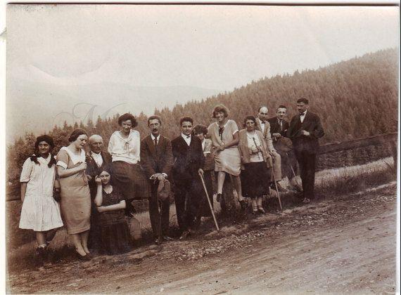 Vintage Photo  Women men photo  Mountain  1930s photo